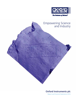 Oxford Instruments annual report 2016