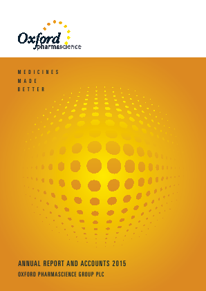 Oxford Pharmascience Group Plc annual report 2015