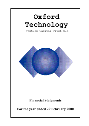 Oxford Technology VCT Plc annual report 2000