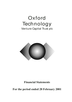 Oxford Technology VCT Plc annual report 2001