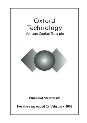 Oxford Technology VCT Plc annual report 2002