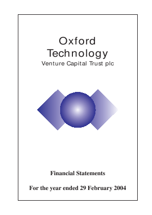 Oxford Technology VCT Plc annual report 2004