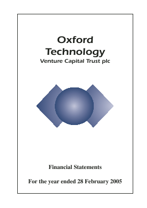 Oxford Technology VCT Plc annual report 2005
