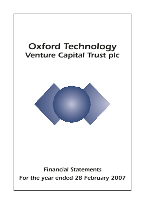 Oxford Technology VCT Plc annual report 2007