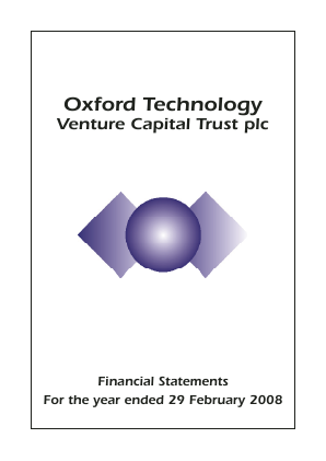 Oxford Technology VCT Plc annual report 2008