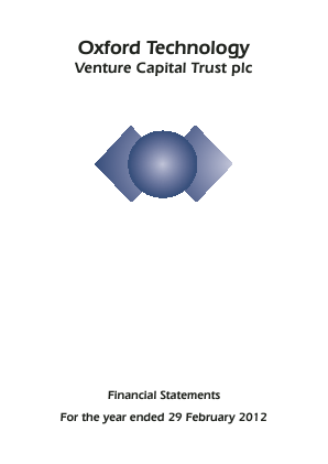 Oxford Technology VCT Plc annual report 2012