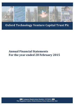 Oxford Technology VCT Plc annual report 2015