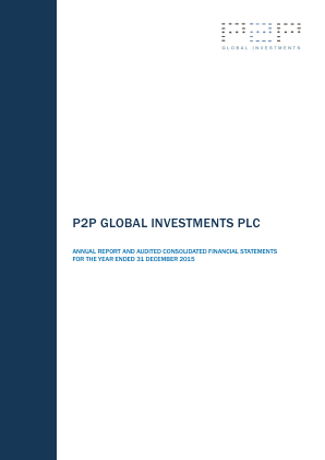 P2P Global Investments Plc annual report 2015