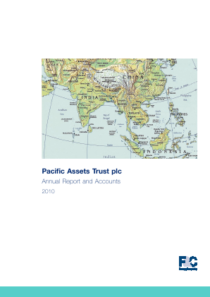 Pacific Assets Trust annual report 2009
