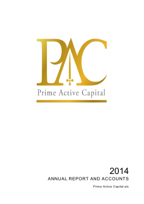 Prime Active Capital Plc annual report 2014
