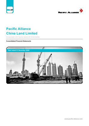 Pacific Alliance China Land Ltd annual report 2009
