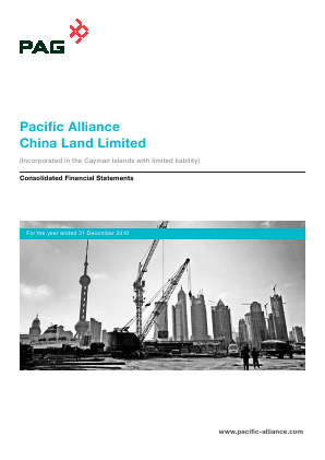 Pacific Alliance China Land annual report 2010