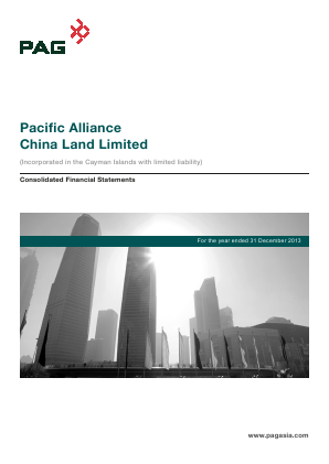Pacific Alliance China Land Ltd annual report 2013