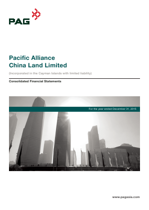 Pacific Alliance China Land annual report 2015
