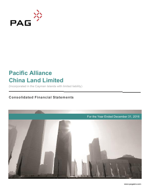 Pacific Alliance China Land annual report 2016