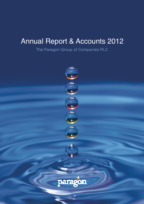 Paragon Banking Group annual report 2012