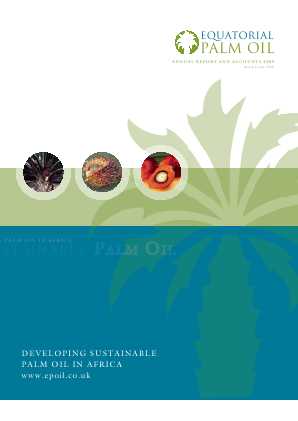 Equatorial Palm Oil Plc annual report 2009