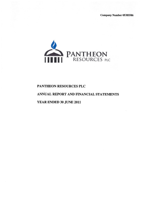 Pantheon Resources annual report 2011