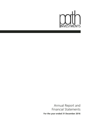 Path Investments annual report 2016