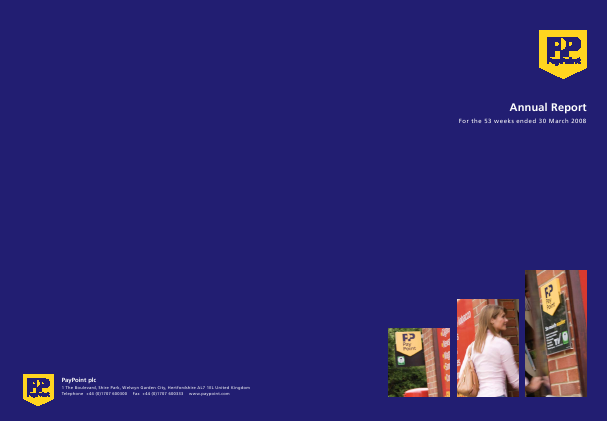Paypoint annual report 2008