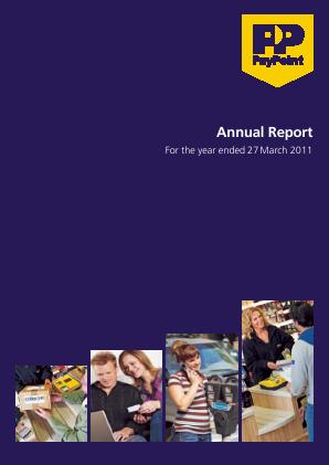 Paypoint annual report 2011