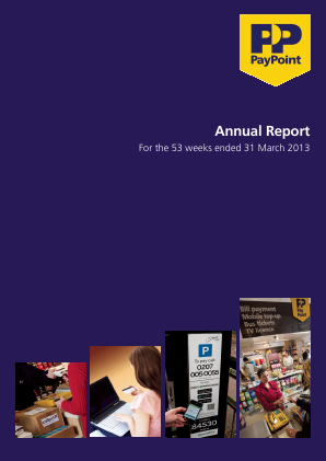 Paypoint annual report 2013