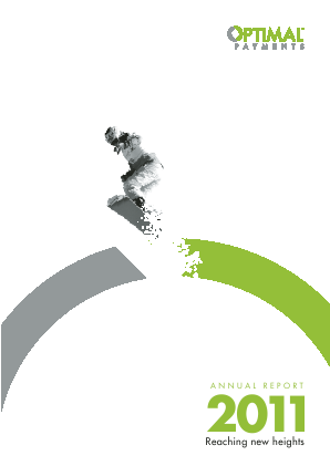 Paysafe Group (formallly Optimal Payments Plc) annual report 2011