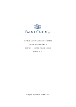 Palace Capital Plc annual report 2014