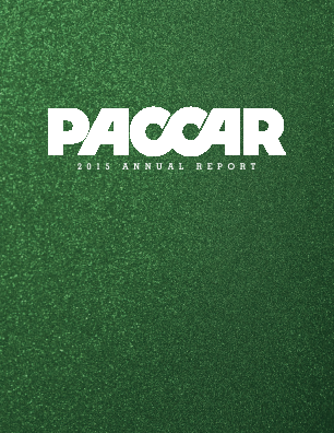 PACCAR Inc. annual report 2015