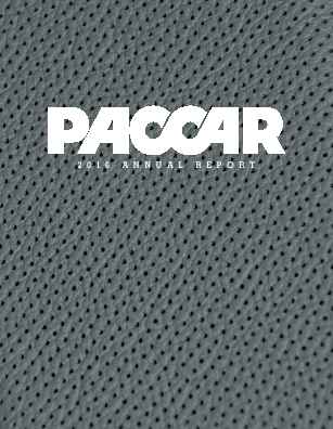 PACCAR Inc. annual report 2016