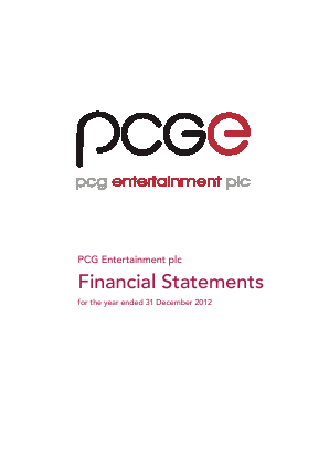 PCG Entertainment Plc annual report 2012