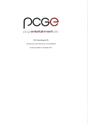 PCG Entertainment Plc annual report 2015