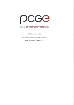 PCG Entertainment Plc annual report 2017
