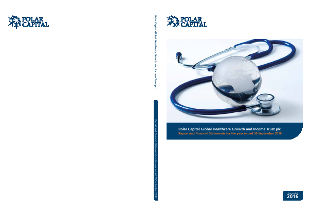 Polar CAP Global Healthcare Growth&Income Trust annual report 2016