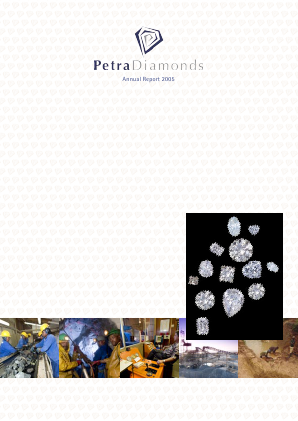Petra Diamonds annual report 2005