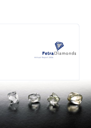 Petra Diamonds annual report 2006