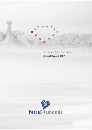 Petra Diamonds annual report 2007