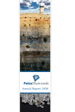 Petra Diamonds annual report 2008