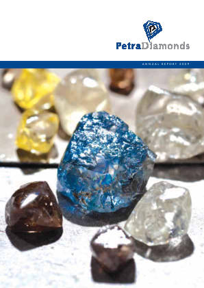 Petra Diamonds annual report 2009