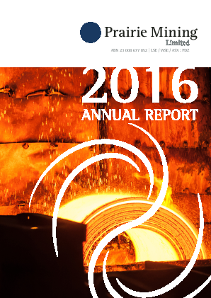 Prairie Mining Ltd annual report 2016