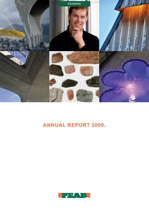 Peab annual report 2009