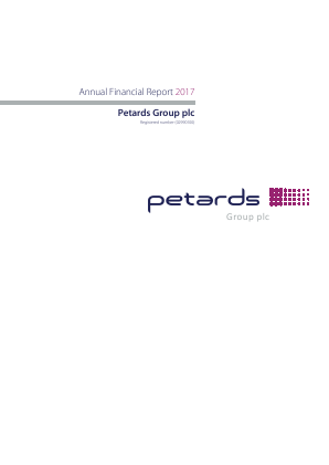 Petards Group annual report 2017