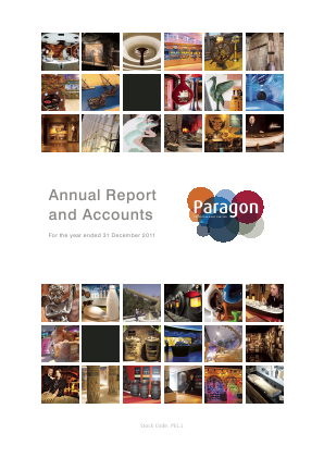 Paragon Entertainment annual report 2011