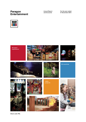 Paragon Entertainment annual report 2015