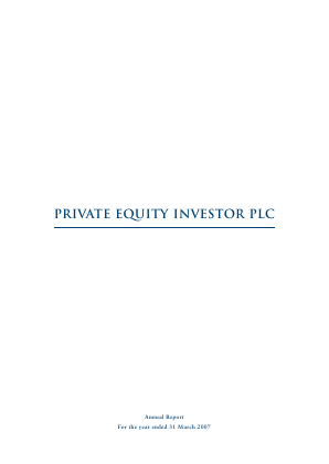 Private Equity Investor annual report 2007