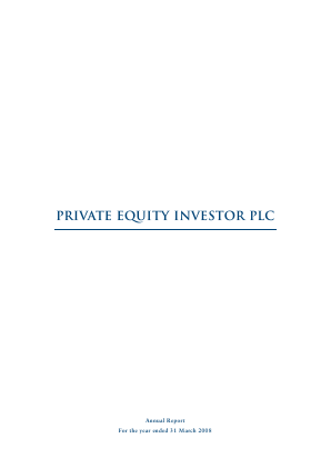 Private Equity Investor annual report 2008