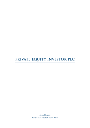 Private Equity Investor annual report 2010