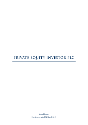 Private Equity Investor annual report 2015