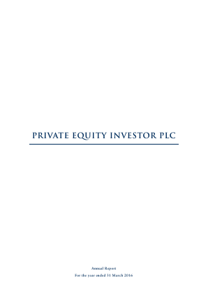 Private Equity Investor annual report 2016