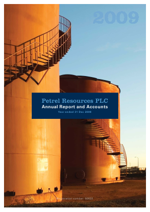 Petrel Resources annual report 2009